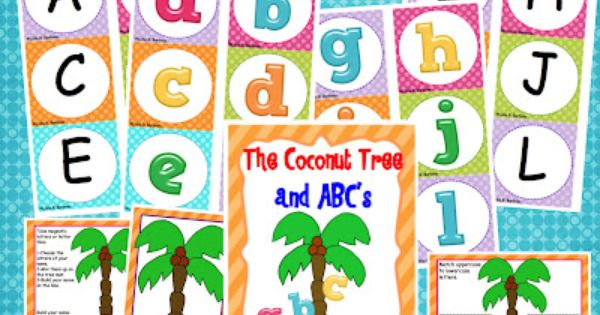 FREE chicka chicka boom boom ABC's center activity!
