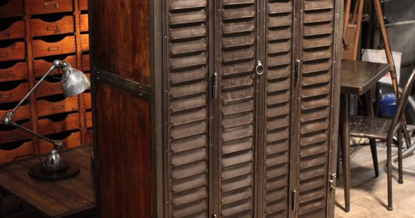 mobilier industriel .vintage industrial  meuble ...