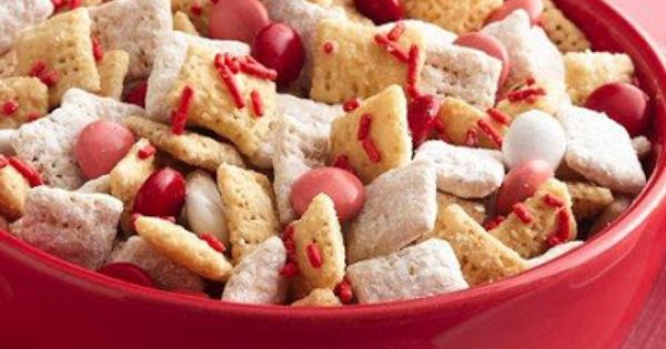 Valentine Chex Mix 9 c Rice Chex® cereal (gluten free) 1 c
