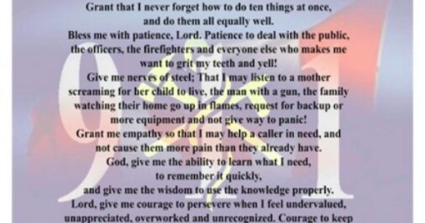 Dispatchers Prayer...for all of my dispatcher coworkers ...
