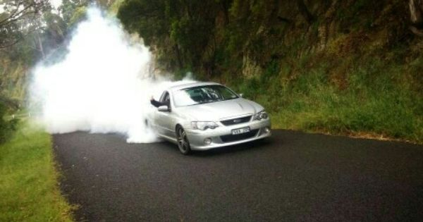 Me Doing A Burnout In My Old Supercharged Ford Falcon Xr8 Ute