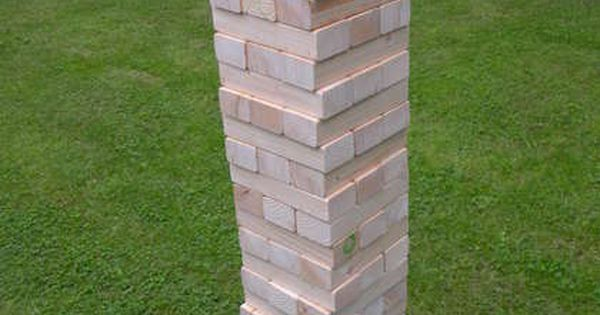 "Giant ""wooden block stacking game\"" tower: Giant Jenga!"