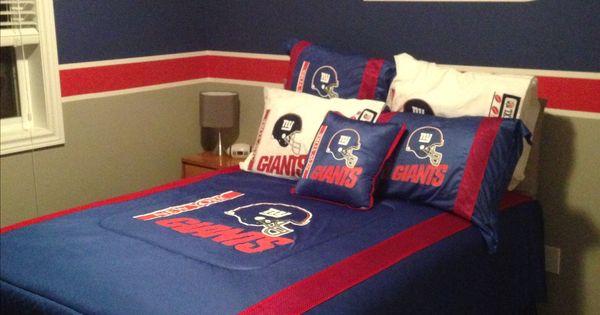 New York Giants Bedroom Our Home Pinterest Bedrooms