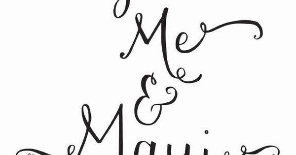 You Me Maui Hawaiian Art Print Hawaii Calligraphy