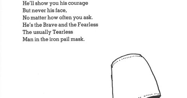 Shel Silverstein Halloween: The Man In The Iron Pail Mask