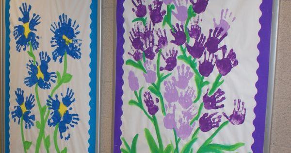 preschool art - HAND PRINTS FOR GROUP