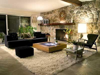 Decora o de salas modernas simples pequenas grandes for Sala de estar rustica y moderna