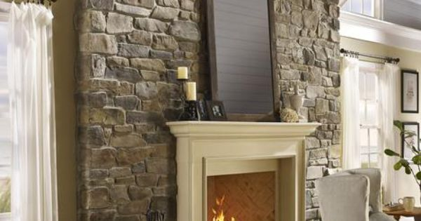 Eldorado stone imagine inspiration gallery residential fireplaces wish list for the - Muurschildering taupe ...