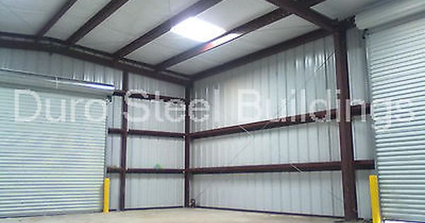 Durobeam Steel 30x30x16 Metal Building Shed Auto Lift Workshop