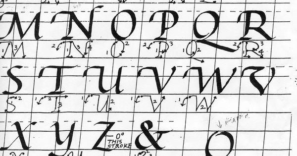 Architectural Lettering Practice Sheets italic calligraphy pra...