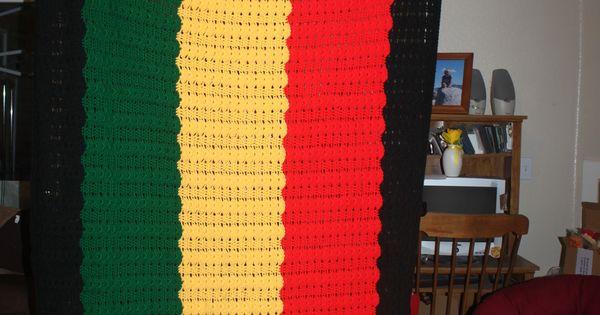 Rasta Blanket Things I Ve Made Pinterest Blankets