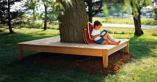tree bench cedar design build pinterest tree. Black Bedroom Furniture Sets. Home Design Ideas