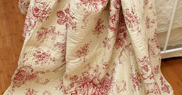 French Toile Ballard French Country Red Toile Quilt