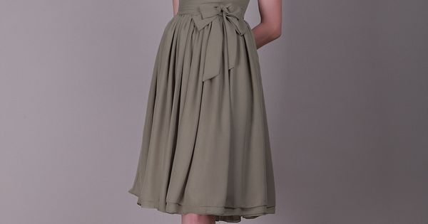 Button Up Back Chiffon Bridesmaid Dress with Cap Sleeves and Bowknot 0113978