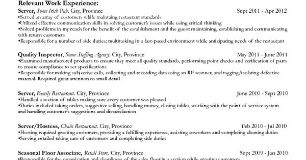 resumes for part time jobs template doc resume objective templates