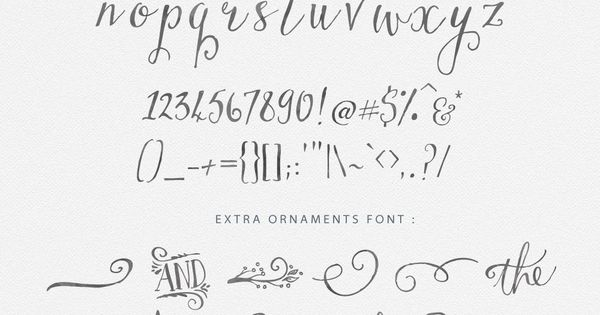 Premium hand drawn script fonts that are worth every cent