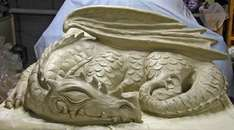Large Cement Sleeping Dragon Outdoor Sculpture Dragon Sculpture Sculpture Dragon Statue