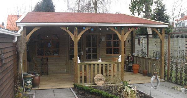 Overkapping achtertuin dakpan google zoeken idee n voor het huis pinterest houten schuur - Veranda met dakpan ...