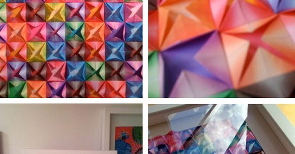 DIY: Affordable Art. Origami art in three different shapes.