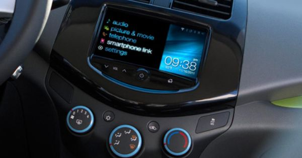 2013 Chevrolet Spark Mini Car Interior Featuring Mylink For In Car