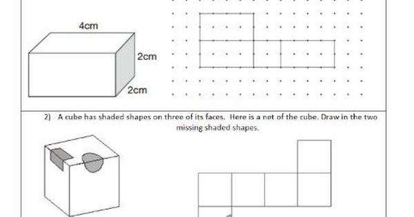 Nets 3d Shapes Represented By 2d Shapes Geometry Ks2 Year 5 6 Worksheet Only 2d Shapes Shapes Ks2