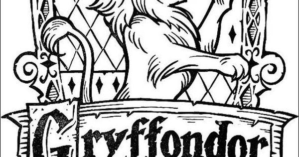 Coloriage harry potter le blason de gryffondor harry potter pinterest harry potter - Gryffondor blason ...