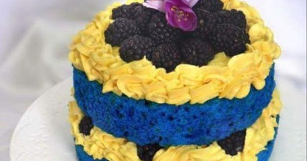 فلفت كيك أزرق Recipe Cake Blue Velvet Cakes Velvet Cake