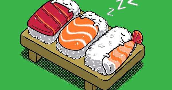 Awesome Sleeping Sushi t-shirt design over at Threadless. Great art over there.