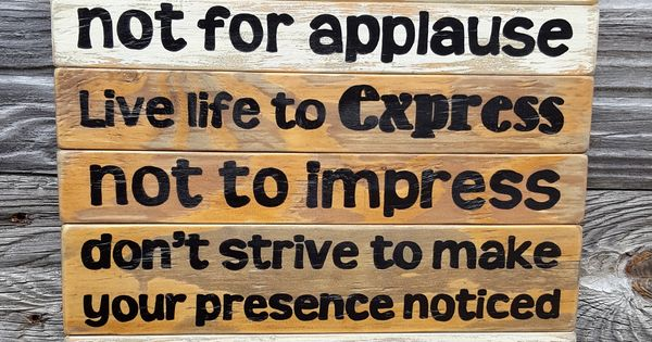 Work For A Cause Not For Applause Quote: Work For A Cause, Not For Applause Teen Boy/girl Bedroom