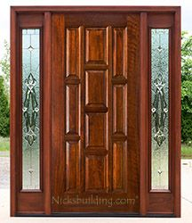 Exterior Doors With Sidelights Solid Mahogany Entry Doors Mahogany Doors Exterior Doors With Sidelights Door Glass Design