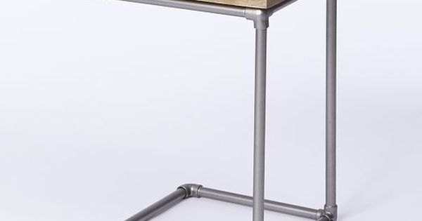 Pipe Side Table from West Elm. Basically just metal ...