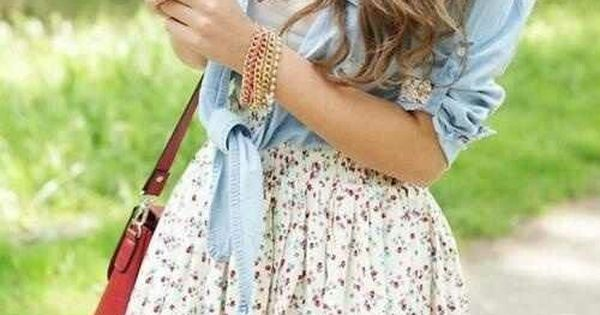cute teen outfit | cute outfit | floral skirt | country style