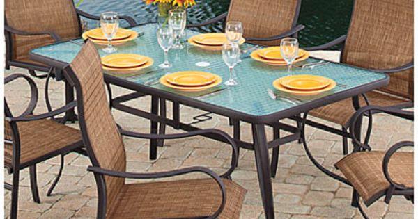 "Wilson & Fisher® Delray 62"" Rectangular Glass Dining Table ..."