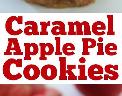 Caramel Apple Pie Cookies -Easy fall cookie. Pastry crust, warm gooey caramel