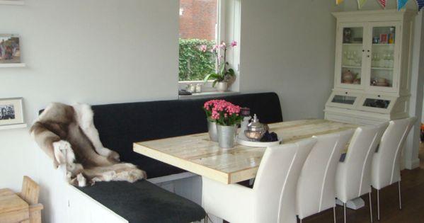Sloophouten tafelblad tafelblad van sloophout tafel brasov de steigeraar interieur - Eigentijdse keuken tafel ...
