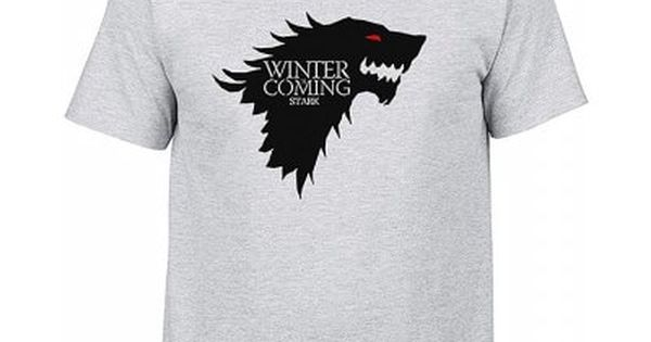 Men Casual T Shirt With Winter Is Coming Letter Printed Sale Price Reviews Gearbest Mens Tshirts Casual T Shirts Men Casual