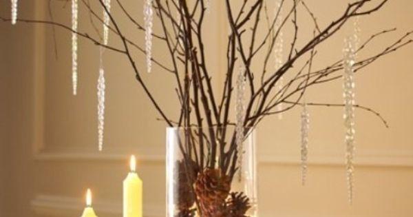 Florero rustico con pi as centro de mesa con pi as - Centros de mesa con pinas ...