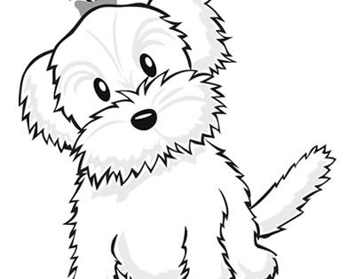 Yorkie Coloring Pages Color A Puppy Coloring Book