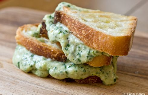 COMFORT FOOD_ Green Goddess Grilled Cheese Panini by paninihappy Grilled_Cheese Green_Goddess Paninihappy