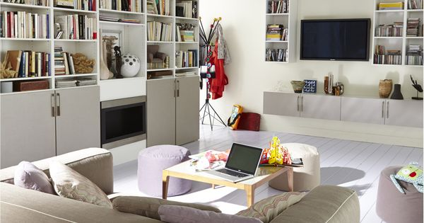 am nagement d coratif spaceo interior salon tv rangements placard pinterest salon tv tv. Black Bedroom Furniture Sets. Home Design Ideas