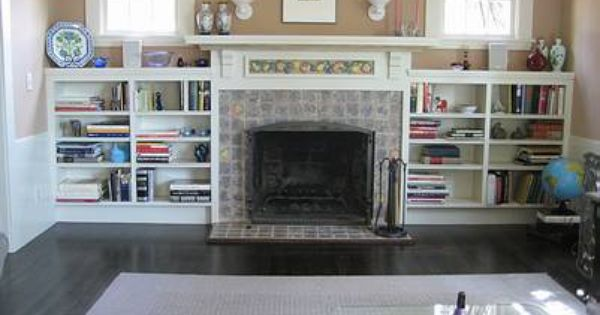Built in Bookcases around Fireplace Fireplace Facelift Built In