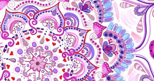 Pink And Purple Mandala Geometric IPhone Wallpaper