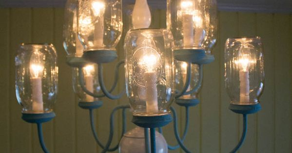 mason jar chandelier, chalk paint, diy, home decor, how to, lighting, mason