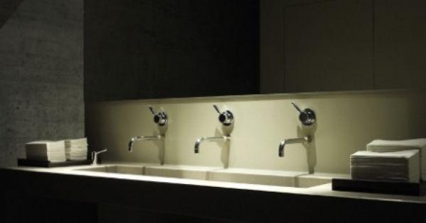 restaurant bathroom by iria degen interiors dark and refined bathroom interiors pinterest. Black Bedroom Furniture Sets. Home Design Ideas