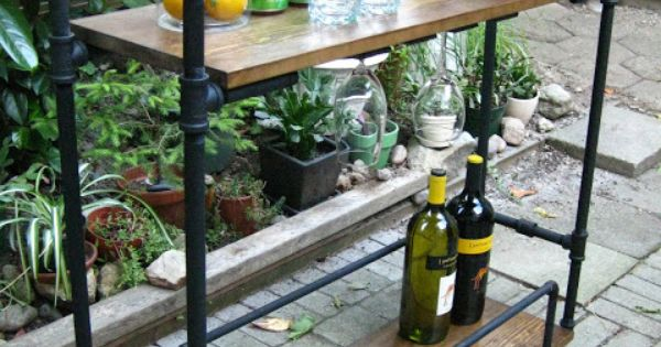 DIY Pipe Bar Cart. I need an outdoor space so I can