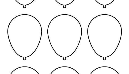 Small Balloon Pattern. Use The Printable Pattern For