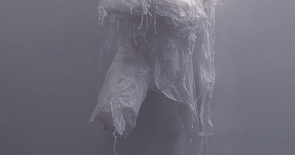 Recycled Plastic Bag Sculptures by Pakistani artist Khalil Chishtee