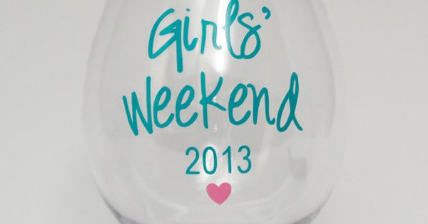 Personalized Wine Glasses Acrylic Cups. Perfect for girls weekend, bachelorette party, bridal