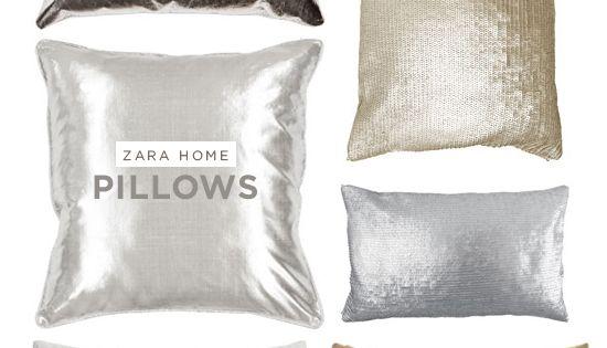 Metallic Pillows / Zara Home