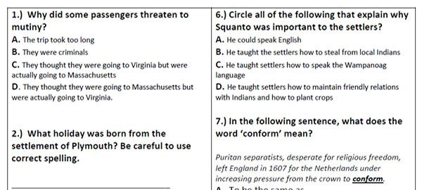 Printable Reading Prehension Passages Grades 3